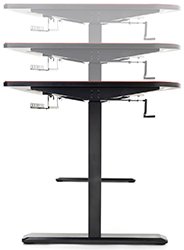 Height adjustable PC gaming table