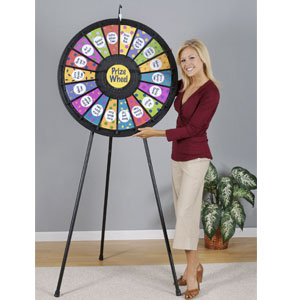 adjustable height prize wheel