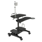 Stand Up Mobile Workstation with Cable Management Tube