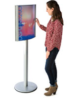 Customers will love interacting with these advertising display stands