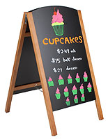 portable chalkboard sidewalk signs for restaurants and bars