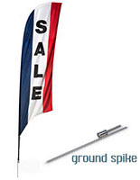 "Swooper Flags with Pre-Printed ""SALE"" Message"
