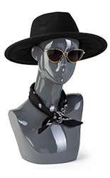 Pewter Female Mannequin Bust