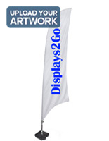 Feather Banner with 1 Color Custom Print