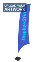 Feather Banner with 2 Color Custom Print