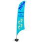 Feather Banner with 3 Color Custom Print