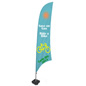 Feather Banner with Full-Color Imprints