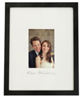Matted Wedding Picture Holder