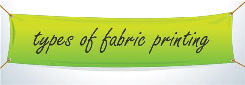 3 Types of Custom Fabric Printing