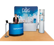 Complete Display Booth Kit with Custom Graphics