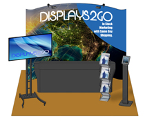 10 x 10 Trade Show Kit with LED Lighting & Travel Cases