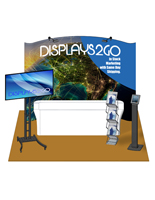 "10 x 10 Trade Show Booth Package with 96"" Table Size"