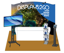 10 x 10 Trade Show Booth Package, Polyester