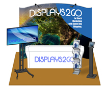 10 x 10 Exhibit Booth Kit with Multi-Tiered Shelves