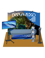 Complete 10 x 10 Exhibit Booth with Custom Graphics