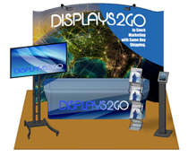 Complete 10 x 10 Exhibit Booth with 5 Pocket Literature Rack