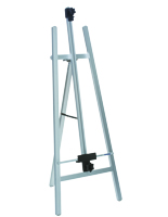 Floor Standing Silver Metal Fold-Up Easel