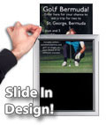 Aluminum frames feature a top load design for easy photo changing!