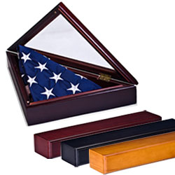 american flag frame with pedestal