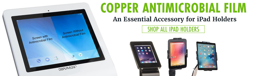 Copper antimicrobial film accessory for iPads