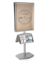 literature sign stand
