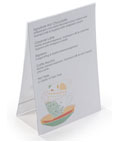 Table Tent Menu Card Holders