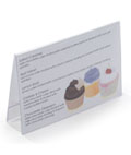 Plastic Menu Card Holder