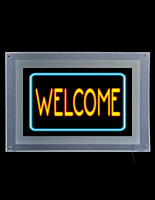 Illuminated Welcome Sign
