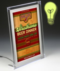 illuminated menu signs