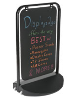 Swinger Pavement Sign with Rounded Edges Metal Frame