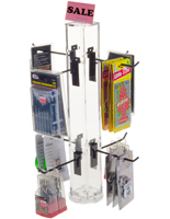 "6"" Hook Black Counter Spinner Rack"