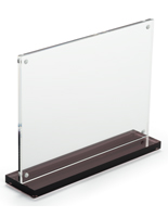 7x5 Clear Acrylic Upright for Advertisments
