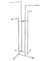 Four-Way Garment Rack with Straight Arms
