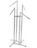 Four-Way Clothing Rack with Waterfall Arms