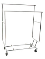Collapsible Garment Rack with Casters