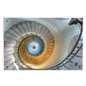 Spiral Staircase Acrylic Wall Art, Steel