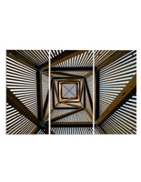 "Architectural Photography Triptych, 45"" Overall Width"