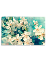 Acrylic Floral Triptych