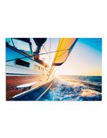 Sailboat Acrylic Photo Print with Silver Standoffs