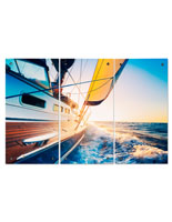 Sailboat Triptych with 3 Panel Design