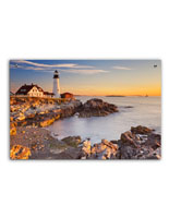 Lighthouse Acrylic Photo Print with 12 Silver Standoffs
