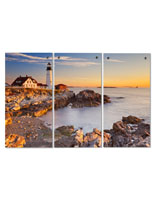 Lighthouse Triptych with 12 Standoffs