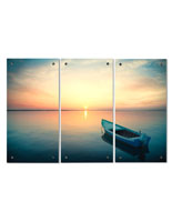 Acrylic Triptych Wall Art with 3 Panel Design