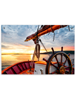 Wall Mounted Ship's Wheel Acrylic Photo Print