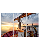 Wall Mounted Nautical Triptych Print