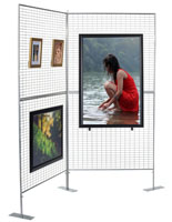 Art Display Panels with Mesh Wire