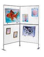 Silver Mesh Wire Craft Fair Rack