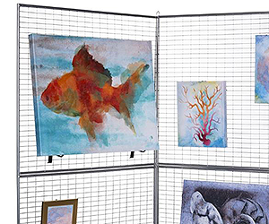 Art display panel system used for hanging painted canvases