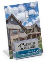 Tabletop Acrylic BIM体育iness Card Display with Sign Holder