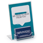 Angled Acrylic Business Card Display with Sign Holder